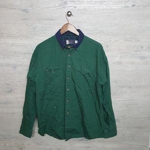 Vintage Western Button Down Shirt. AMAZING Colors!
